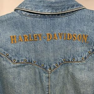 Harley-Davidson Studded Denim Button Down X-Large